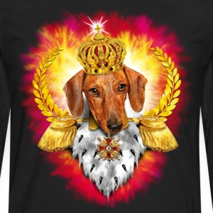 Dachshund the King - Crown Krone - Dackel Feuer K - Männer Premium Langarmshirt