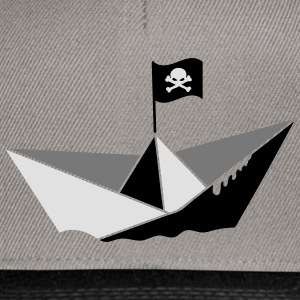 A paper boat with a pirate flag T-Shirts - Snapback Cap