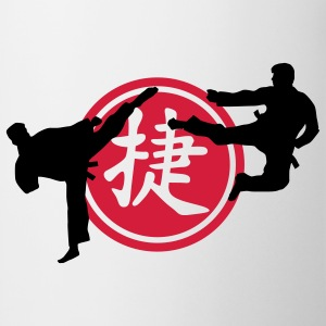 chinese_sign_victory_karate_a_2c Camisetas - Taza