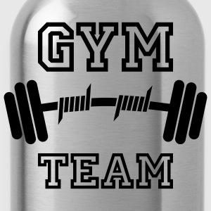 GYM TEAM | Fitness | Body Building | Hantel | Dumbbell T-Shirts - Vattenflaska