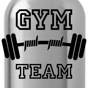 GYM TEAM | Fitness | Body Building | Hantel | Dumbbell T-Shirts - Drikkeflaske