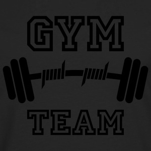 GYM TEAM | Fitness | Body Building | Hantel | Dumbbell T-Shirts - Männer Premium Langarmshirt