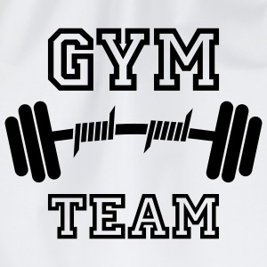 GYM TEAM | Fitness | Body Building | Hantel | Dumbbell T-Shirts - Turnbeutel