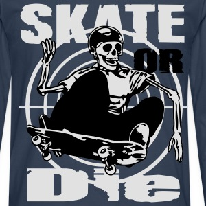 Skeleton Skateboarder - T-shirt manches longues Premium Homme