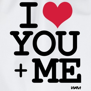 i love you plus me T-shirts - Gymtas