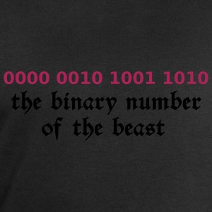 Black 666 - satan - devil - the binary number of the beast - 29A T-Shirts - Men's Sweatshirt by Stanley & Stella