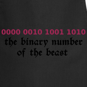 Black 666 - satan - devil - the binary number of the beast - 29A T-Shirts - Cooking Apron