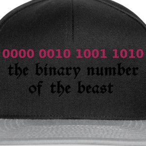 Czarny 666 - satan - devil - the binary number of the beast Koszulki - Czapka typu snapback