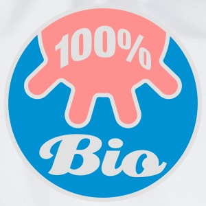 100% Bio | Cow | Kuh | Euter | Udder | 100 Percent | 100 Prozent T-Shirts - Sacca sportiva