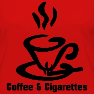 Coffee and Cigarettes Tee shirts - T-shirt manches longues Premium Femme