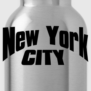 Negro new york city Camisetas - Cantimplora