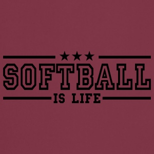 softball is life deluxe T-shirts - Tablier de cuisine