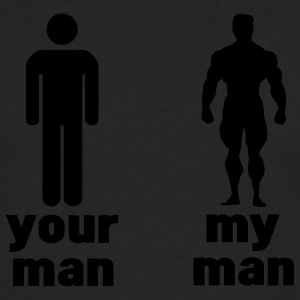 your man vs my man T-shirts - Långärmad premium-T-shirt herr