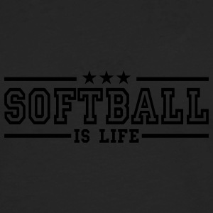 softball is life deluxe T-skjorter - Premium langermet T-skjorte for menn