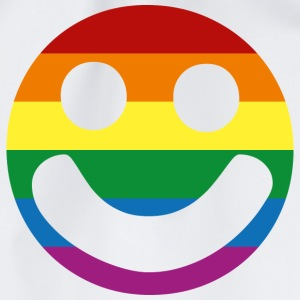 Rainbow Flag :) Smiley Face T-Shirt - Drawstring Bag