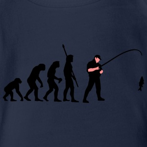 evolution_angler_a_2c_fisch Shirts - Organic Short-sleeved Baby Bodysuit