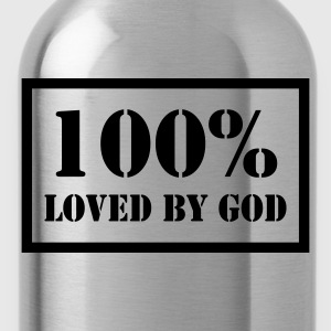 100% loved by God T-Shirts - Trinkflasche