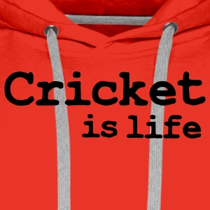 cricket is life T-shirts - Premiumluvtröja herr