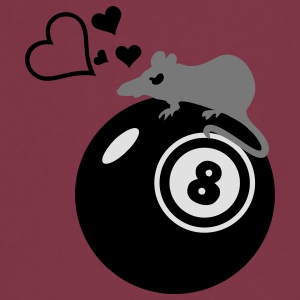 Pool-Billard-Ratte / rat loves eight ball (3c) T-shirts - Tablier de cuisine