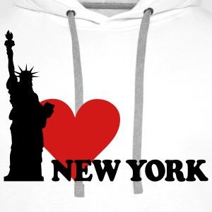 I love New York - NY T-shirts - Sweat-shirt à capuche Premium pour hommes