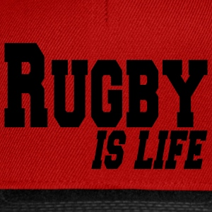 rugby is life T-shirts - Snapback Cap
