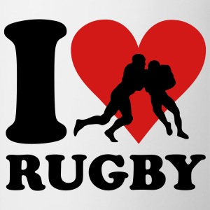 I love Rugby T-shirts - Mugg