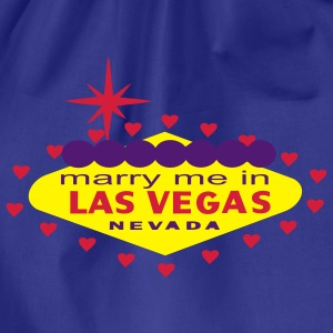 MARRY ME IN LAS VEGAS T-SHIRT - Drawstring Bag