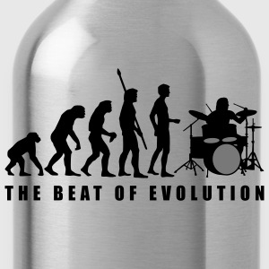 evolution_drummer_c_2c Camisetas - Cantimplora