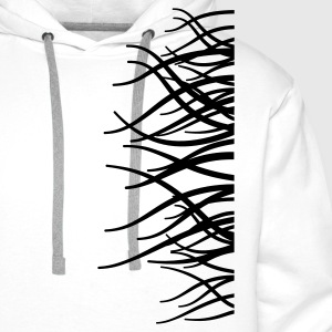 'Autumn Trees' Men's Big & Tall Shirt, white - Men's Premium Hoodie