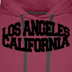 Rosa los angeles california T-skjorter - Premium hettegenser for menn