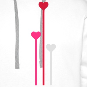 heart flowers 3c T-Shirts - Men's Premium Hoodie