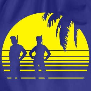 BEACH DIVING SUNSET PALME 1C T-shirts - Gymnastikpåse