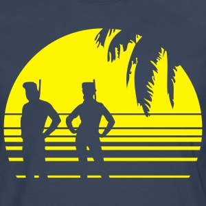 BEACH DIVING SUNSET PALME 1C T-shirts - Långärmad premium-T-shirt herr