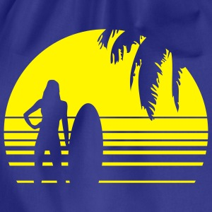 BEACH SURFING GIRL PALME 1C T-shirts - Gymnastikpåse