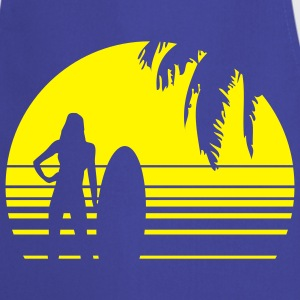 BEACH SURFING GIRL PALME 1C T-shirts - Tablier de cuisine