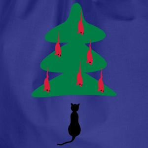 Turquoise Cat - Kerst T-shirts - Gymtas