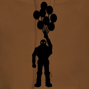 Anti-krig tema, retro robot med ballon ballon science fiction-motiv stencil T-shirts - Dame Premium hættetrøje
