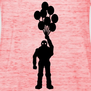 Anti-krig tema, retro robot med ballong ballong science fiction motiv sjablong T-skjorter - Singlet for kvinner fra Bella