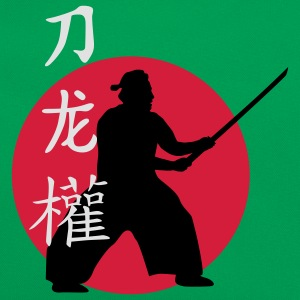 samurai_dragon_power_sword_3c T-Shirts - Retro Tasche