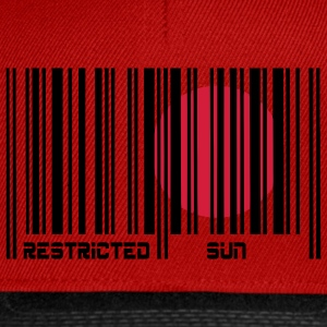 Restricted Sun, Dom Restricted, codice a barre. T-shirt - Snapback Cap
