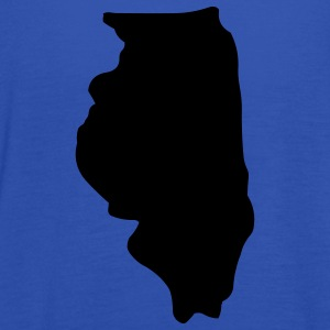State of Illinois T-Shirts - Women's Tank Top by Bella