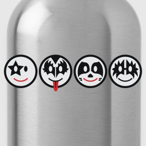 Smiley Kiss Icons (horizontal) 3c  - Trinkflasche