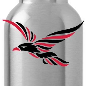 tribal raven 2c T-Shirts - Water Bottle