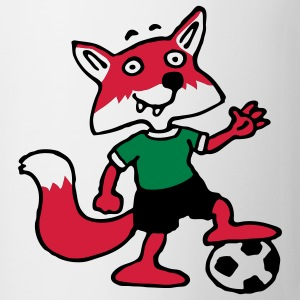 soccer_fox_o_white_3c T-shirts - Mugg