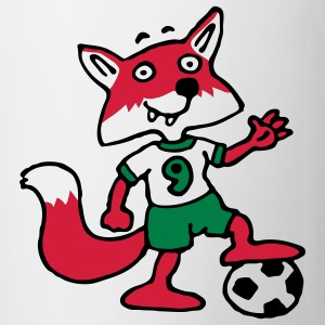 soccer_fox_j_white_3c T-shirts - Mugg