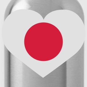 Love Japan | Heart | Herz T-Shirts - Trinkflasche