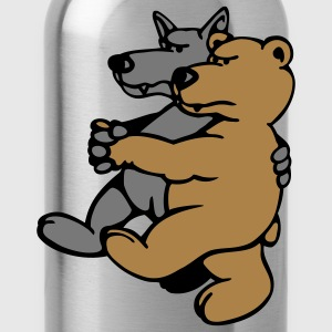 Wolf and Bear T-Shirts - Water Bottle