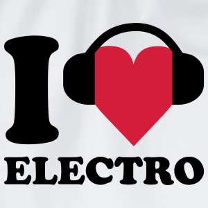 I love Music - Electro T-shirts - Gymtas