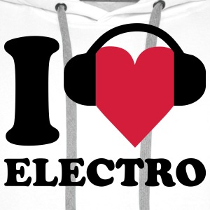 I love Music - Electro T-shirts - Sweat-shirt à capuche Premium pour hommes