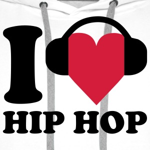 I love Music - Hip Hop T-skjorter - Premium hettegenser for menn